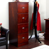 Mission Craftsman Shaker Cherry 4 Drawer File Cabinet