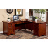Mission Craftsman Cherry Corner L-Shaped Desk