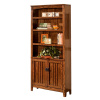 Mission Craftsman Oak Bookcase With Doors
