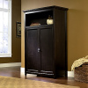 Warm Black Shaker Computer Armoire