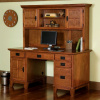 Mission Craftsman Oak Computer Desk & Hutch