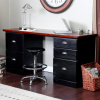 Mission Craftsman Shaker Black 5 Drawer Desk