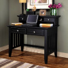 Mission Craftsman Black Computer Desk w/Hutch