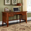 Mission Craftsman Executive Oak Computer Desk
