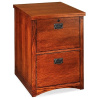 Oak Mission Craftsman Locking File Cabinet