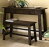 Shaker Rustic Pine Desk & Bench Set