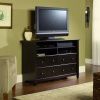 Warm Black Shaker Highboy Entertainment Center