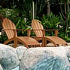 Teak Finish 5pc Adirondack Chair & Table Set