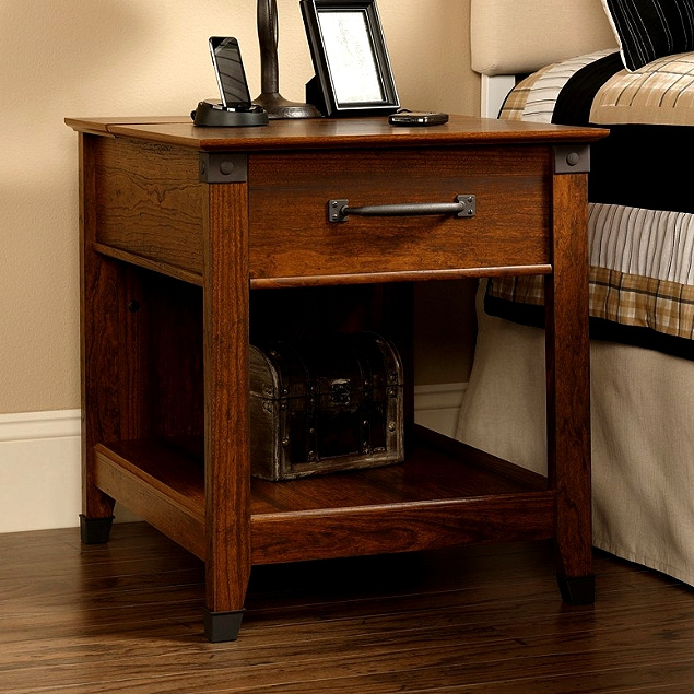Craftsman Mission Side End Table w/Wrought Iron