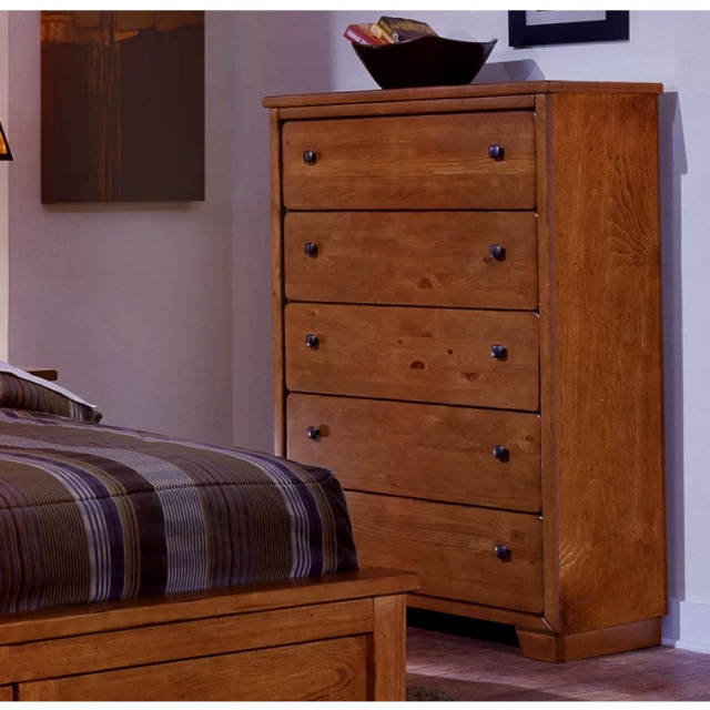 Mission Shaker Pine Chest of Drawers