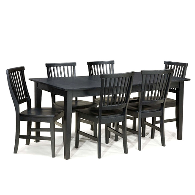 Mission Shaker Ebony 7pc Dining Set