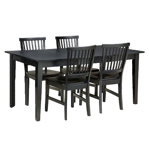 Mission Shaker Ebony 5pc Dining Set