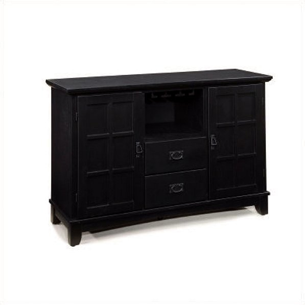 Mission Craftsman Black Lowboy Sideboard Buffet