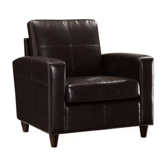 Espresso Brown Leather Club Chair