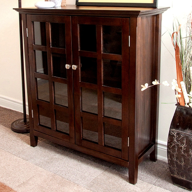 Tobacco Mission Craftsman Solid Pine Buffet Cabinet