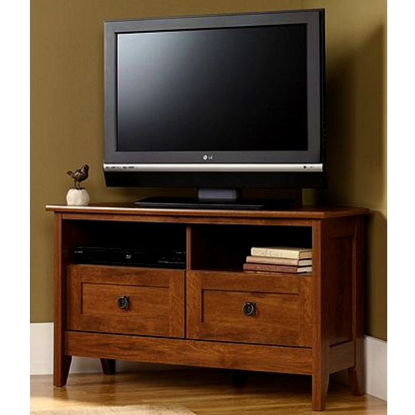 Corner Mission Shaker Oak TV Stand Limited Quantity