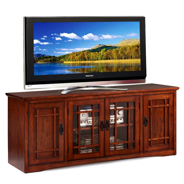 Oak Mission Craftsman Entertainment Console