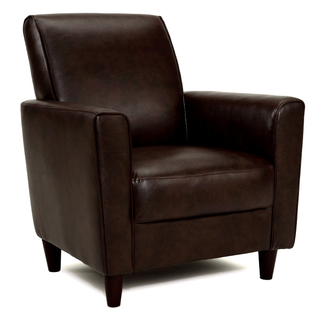 Wenge Brown Leather Club Chair