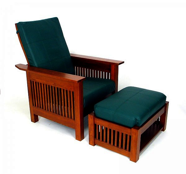 Mission Craftsman Morris Leather Recliner Ottoman View Images