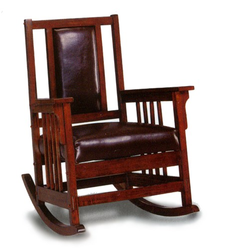 Mission Craftsman Oak Morris Rocker