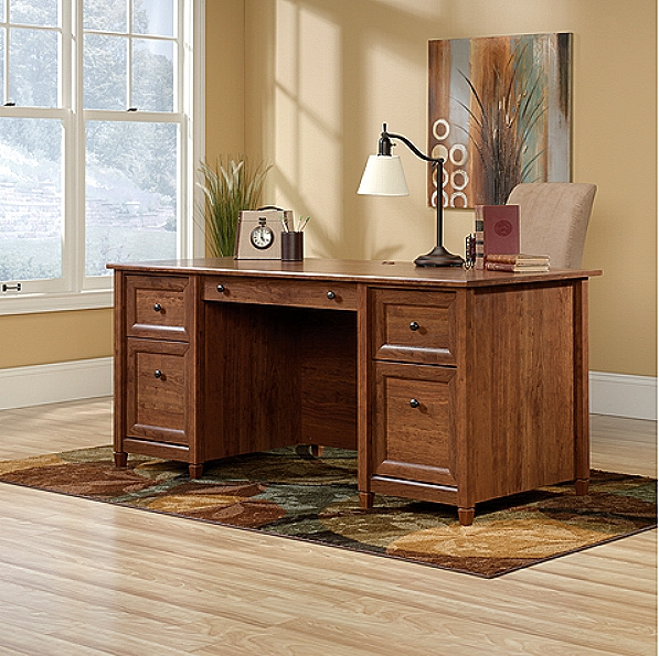 Cherry Mission Craftsman Shaker Executive Desk