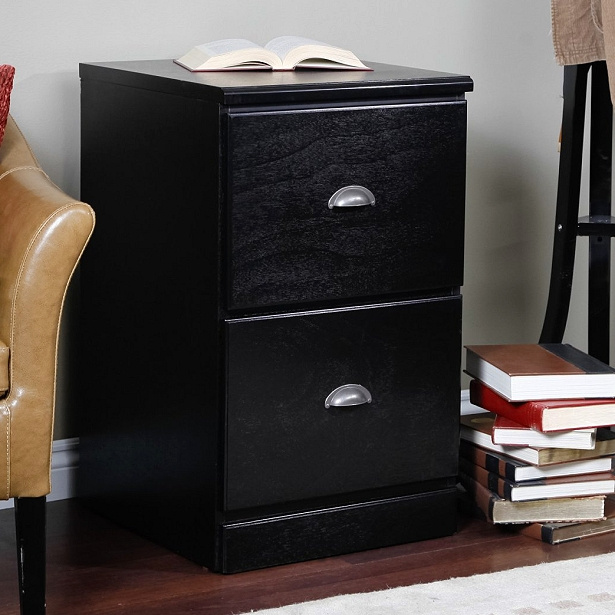 Mission Craftsman Shaker Black 2 Drawer File Cabinet