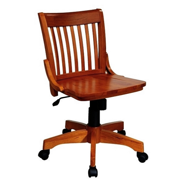 Mission Craftsman Armless Maple Office Chair
