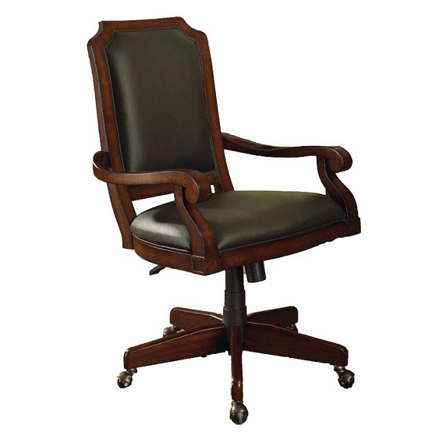 craftsman leather chair office furniture mission furniture craftsman furniture 13570 | Craftsman Leather Wood Executive Office Chair