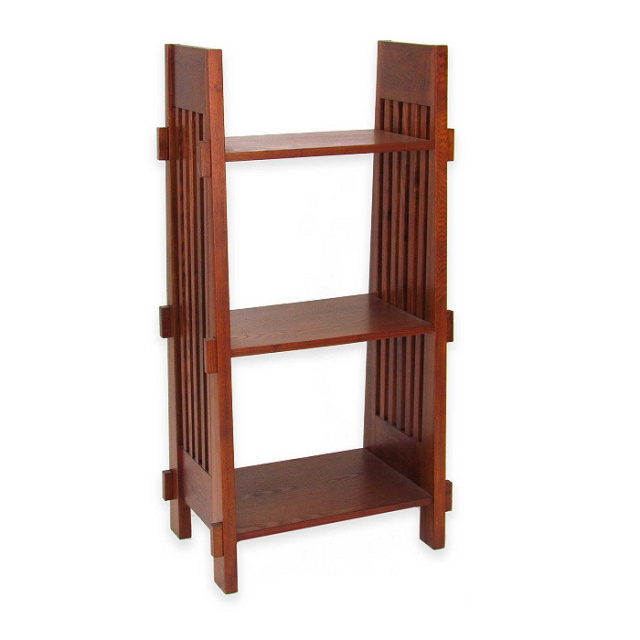 Craftsman Mission Shaker Oak Wood Bookcase