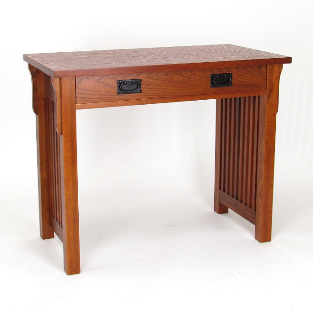 Craftsman Mission Shaker Oak Wood Desk