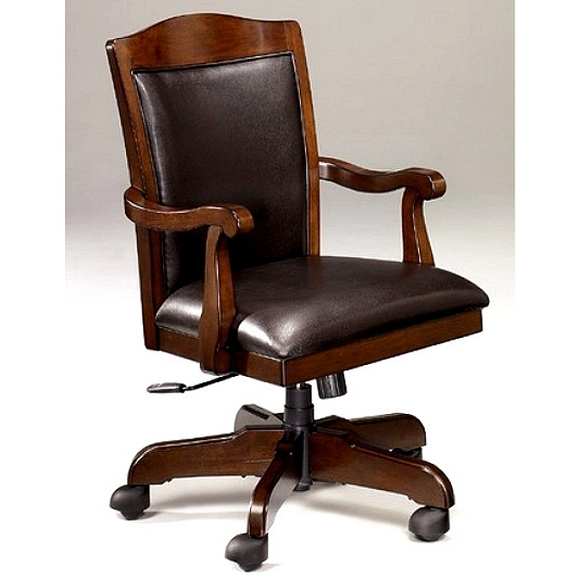 craftsman leather chair office furniture mission furniture craftsman furniture 13570 | Craftsman Wood Leather Executive Office Chair