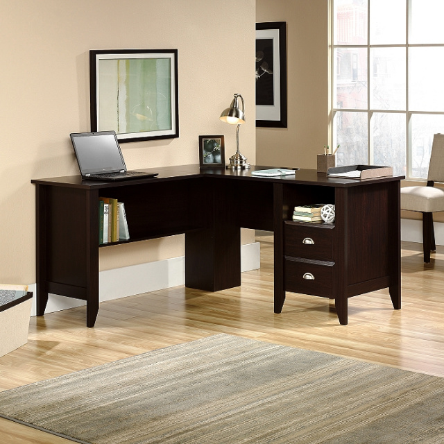 Espresso Shaker L-Shaped Desk