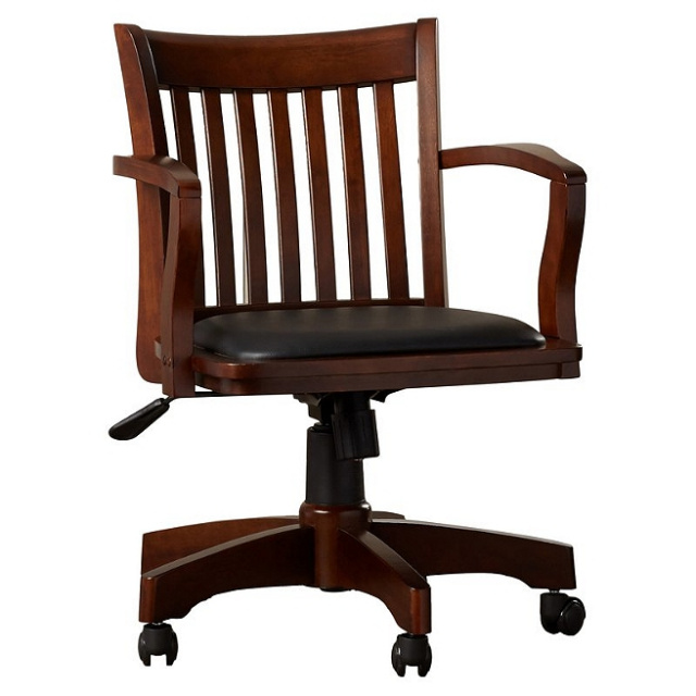 Mission Craftsman Espresso Maple Office Chair