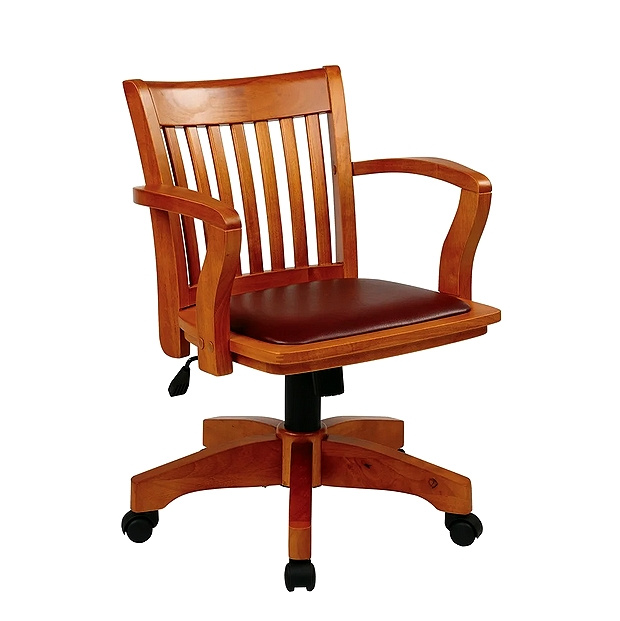 Mission Craftsman Maple Padded Office Chair