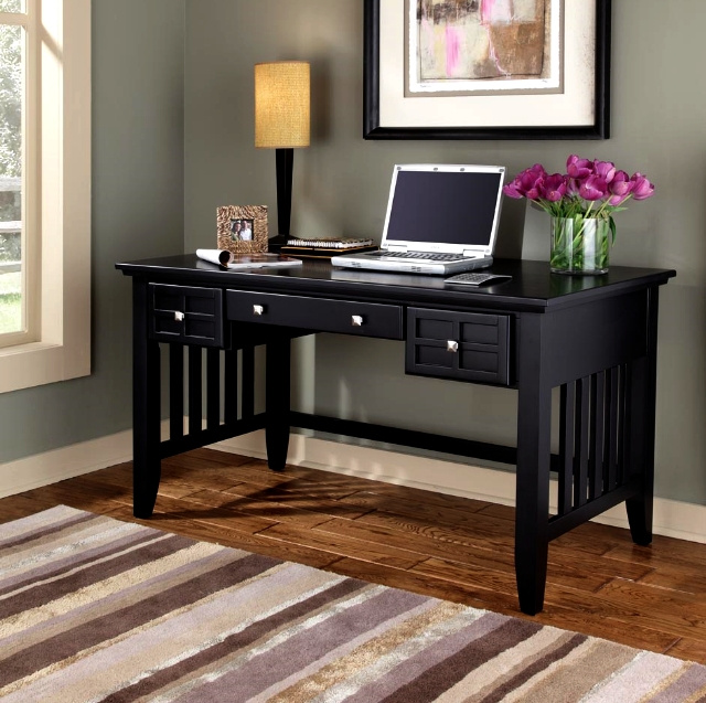 Mission Craftsman Executive Black Computer Desk