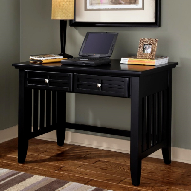 Mission Craftsman Black Computer Desk