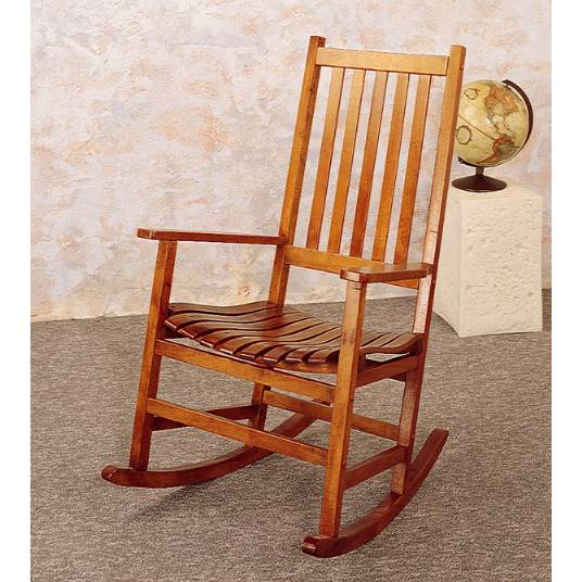 Oak Mission Style Rocker Rocking Chair
