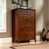 Cherry Craftsman Mission 4 Drawer Chest w/Wrought Iron