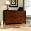 Cherry Craftsman Mission 6 Drawer Dresser w/Wrought Iron