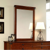 Cherry Craftsman Mission Dresser Mirror w/Wrought Iron