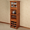 Craftsman Cherry Wine Rack Bar Cabinet