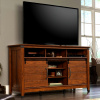 Craftsman Mission Entertainment Center w/Wrought Iron