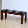 Mission Arts & Crafts Leather Bench 48""