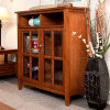 Mission Craftsman Solid Pine Bookcase Cabinet
