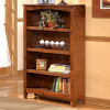 Mission Craftsman Oak 4 Shelf Bookcase