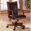 Mission Craftsman Oak Leather Executive Office Chair