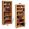 Mission Shaker Six Shelf Oak or Maple Bookcase